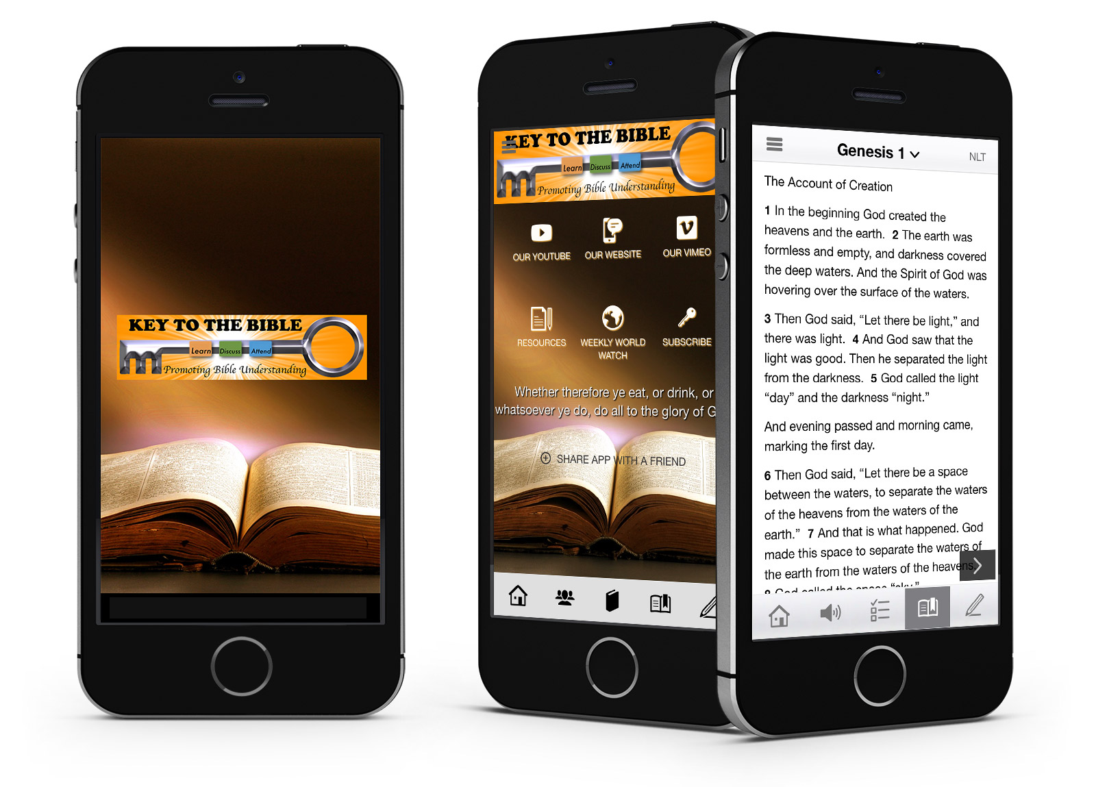 Bible App advert keytothebible